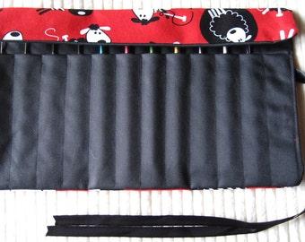 Sheep Crochet Needle bag  x 1 ( Red)
