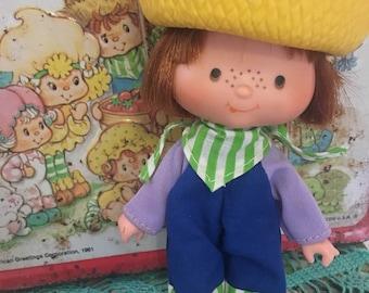 Vintage Strawberry Shortcake - Huckleberry Pie Doll - 1980s Toys - Strawberry Shortcake - Retro Dolls - Kitschy Collectibles