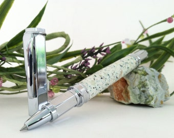 Glow in the Dark Hand Crafted Sleek Chrome Rollerball Pen - FREE ENGRAVING