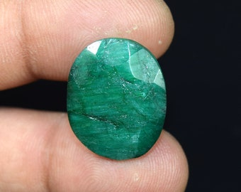 27.45  Cts. Beautiful  African  Emerald Oval  Cut Loose Gemstone