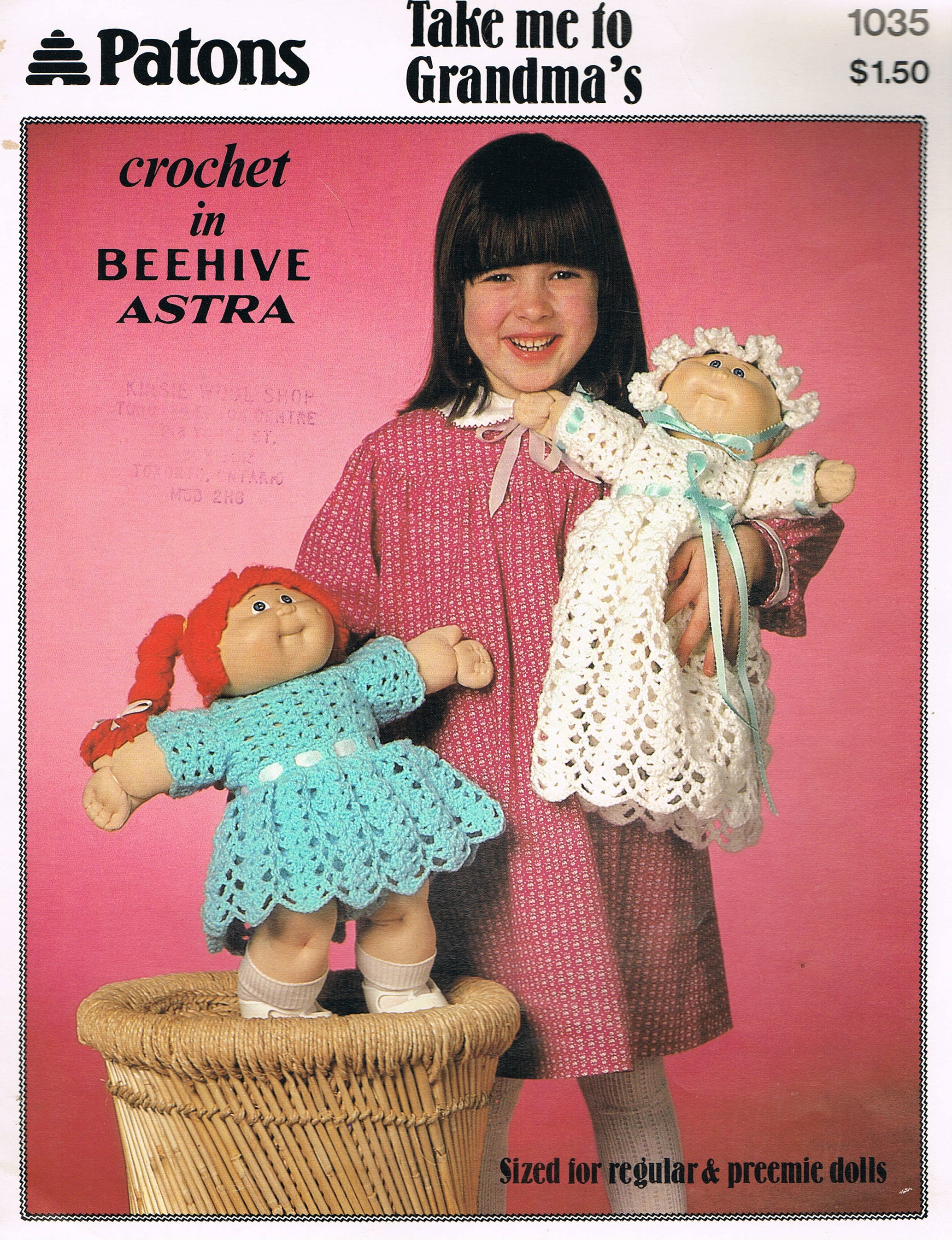 Doll Crochet Pattern - Cabbage Patch Kids Clothes Dress, Bonnet ...