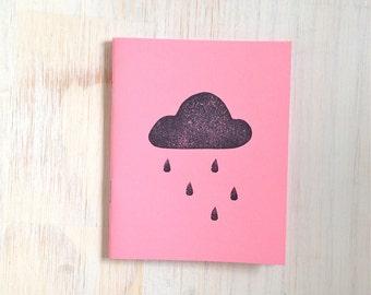 Medium Notebook: Rain Cloud, Pink, Portland, Stocking Stuffer, Wedding, Favor, Journal, Blank, Unlined, Unique, Gift, Notebook, UU10/11x5