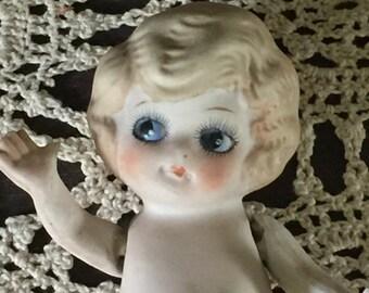 Vintage Porcelain Kewpie Doll, Vintage Kewpie Doll, Vintage Porcelain Doll, Vintage Doll,