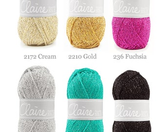 ByClaire Sparkle yarn 50 gram - By Claire Sparkle glitter yarn