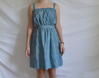 vintage geometric patterned handmade dress