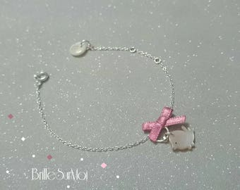 'RESERVED' CHILD BIRD PEARL 925 SILVER BRACELET SHINES ON ME
