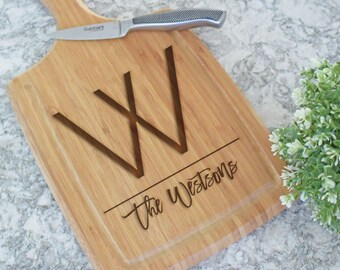 Personalized Cutting Board, Custom Cutting Board, Wedding Gift, Engraved Cutting Board, Housewarming Gift, Anniversary Gift, Paddleboard