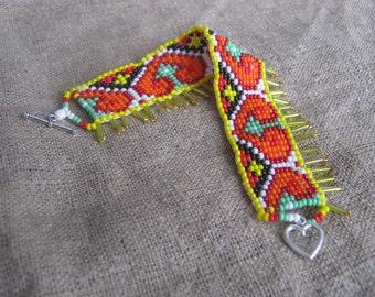 Love Bracelet - Beaded Jewelry-Traditional Ukrainian Jewelry