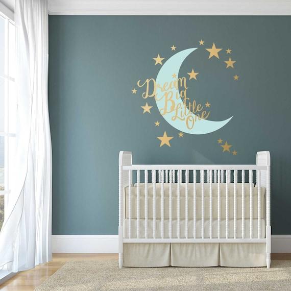 Stars And Moon Nursery Wall Decal Dream Big Little One