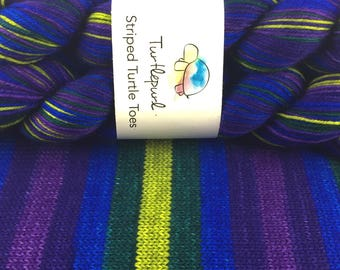 Mystic Topaz - Hand-dyed Self-striping sock yarn