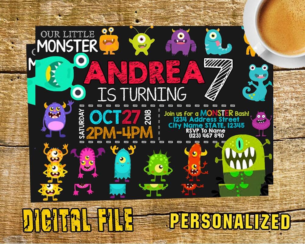Monster Inc Invitation Monster Inc Birthday Monster Inc