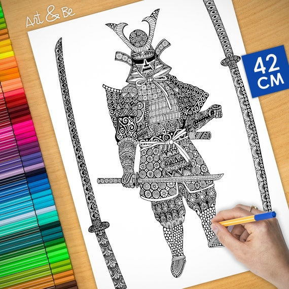 Coloring poster - SAMOURA...
