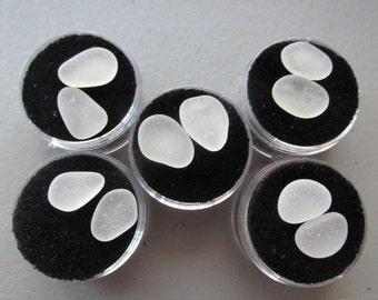 Sea Glass Pairs Earrings Supply, Sea Glass Sets, White Sea Glass, Jewelry Supply, Genuine Beach Glass
