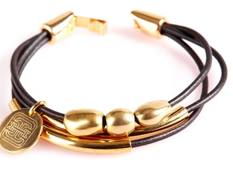 ART3 Gold and Brown Bracelet