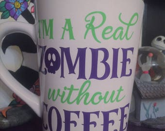 I'm a Real Zombie without coffee' mug