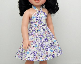 14 inch Doll Clothes-Wildflower Collection-Purple Floral Summer Sundress