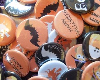 Halloween Pinback Buttons, badges, pins