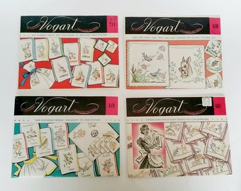 4 Vintage Vogart Transfer Patterns,