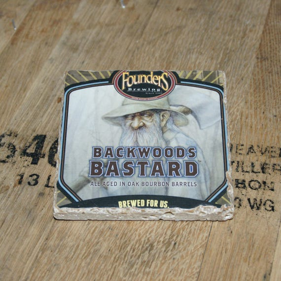 UPcycled Coaster - Founders Brewing Co. - Backwoods Bastard