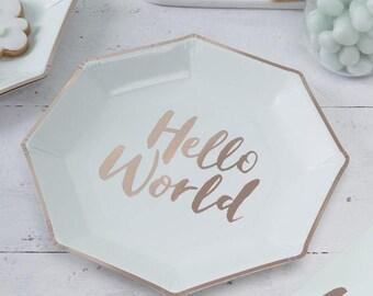 "Plates ""Hello World"""