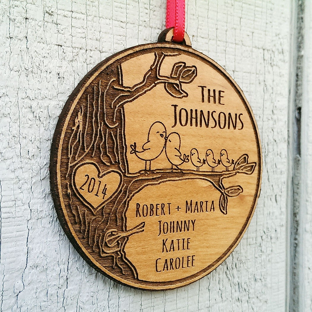 Personalized Family Christmas Ornament Gift Christmas