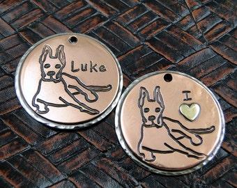 Great Dane ID Tag-Custom Dog Collar Tag-Personalized Dog Tag-Pendant or Keychain Fob
