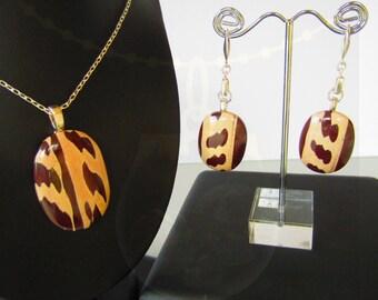 Australian Zebra Stone Jewellery Set (Oval)