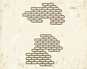 Brick Texture Laser Cut Chipboard Scrapbooking Embellishment