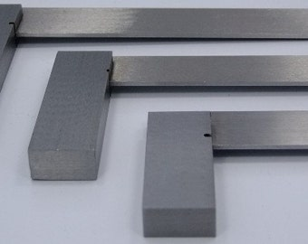Precise Steel Crafters/Machinists Squares Set Of Three