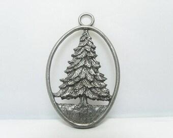 Christmas Tree Pendant By Etain Zinn Canada / 1992 Seagull Pewter Pendant