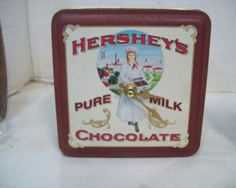 Hershey Pure Milk Chocolate Vintage Edition Tin Clock, Shelf Clock, Free Shipping Z1