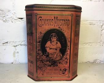 Vintage Reproduction Colman's Mustard Tin