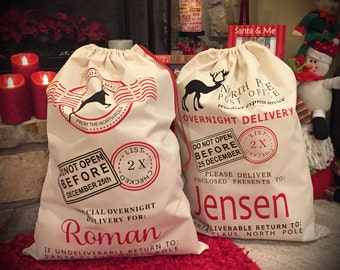 Santa sack, personalized santa sack, santa bag, christmas, christmas sack, santa, personalized christmas bag