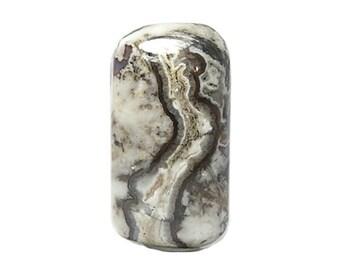Agate Crazy Lace Brown White Agate polished Semiprecious Gemstone Rectangle Cabochon Stone DIY Craft Jewel, Geo Gem, Jane's Handcrafted Gem
