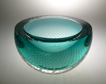 Czech art glass bowl, design glass