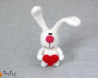 White rabbit plush bunny rabbit girlfriend gift easter bunny plush bunny heart stuffed bunny rabbit girlfriend gift white rabbit love gift for her stuffed animals negle Images