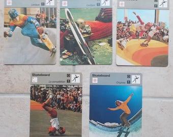 Set of 5 sheets Skateboard Vintage dated 1978 1970's vintage 70's skateboard