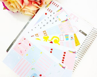 DISNEY Beauty and the Beast ECLP Weekly Planner Sticker Kit (Weekly Kit, Disney Stickers, Planner Stickers, Sticker Kit, Summer Kit)
