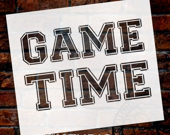 Game Time - Word Stencil - Select Size - STCL1323 - by StudioR12