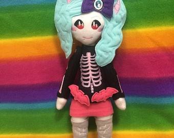 Japanese Fashion Doll Kei Doll Creepy Kei Fleece Plush Plushie Toy