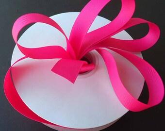 "shocking pink grosgrain ribbon- 7/8""x10yds**on sale now**"