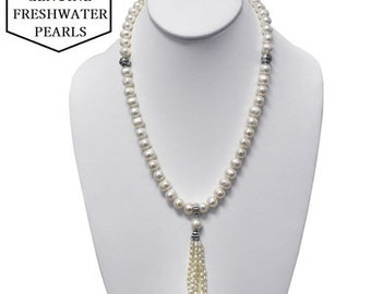 380.00 CTW Genuine Freshwater Pearl Tassel Necklace