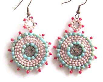 Earrings boho style, boho earrings, earrings