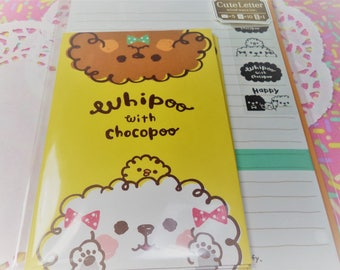 Kawaii 16 Pc. Whipoo with Chocopoo  Cute Letter Stationery Set  great for scrapbooking, Snail Mail, Pen pal, School, Stationery, Diy.