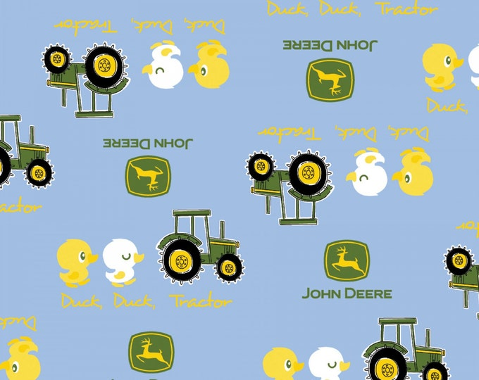 Children's John Deere Blue Duck Cotton Fabric by Springs Creative
