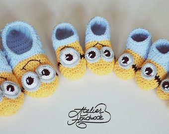 Crochet Pattern Slippers for Kids & Child sizes | PDF File in English