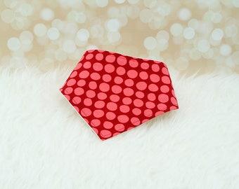 60% OFF SALE! Baby Bandana Drool Bib - Red Dots ||| bibdana, drool bib, dribble bib, bandana bib sale, bibdanna, baby bibdana
