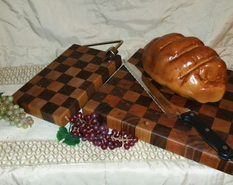 End Grain Native American Hardwood Cutting Boards , Walnut and Cherry