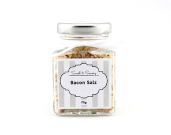 Bacon salt, Bacon Salz, salt, gourmet salt 70 g, ideal as a gift for grilling cooking for him and her