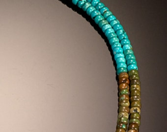 Turquoise Multi-Hued Double Strand - Worthy of a Goddess - Free US shipping